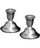 Pewter Candlesticks Weighted